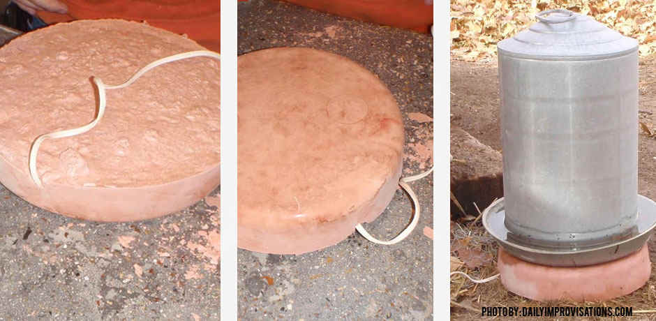 Chicken water heater stone